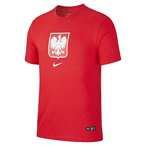 20-21 Poland Crest T-shirt - Red