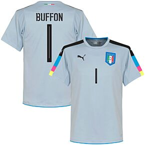 Italy Buffon Goalkeeper Jersey 2016 / 2017 (Fan Style Printing) - Grey