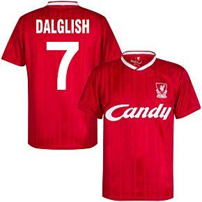 1989 Liverpool Home Retro Shirt + Dalglish 7 (Retro Flock Printing)