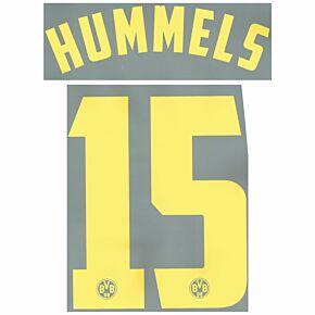 Hummels 15 - 11-12 Borussia Dortmund Away Official Name & Number