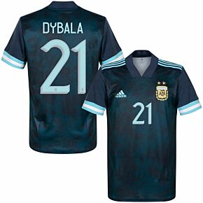 20-21 Argentina Away Shirt + Dybala 21 (Official Printing)
