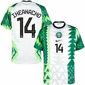 20-21 Nigeria Home Shirt + Iheanacho 14 (Official Printing)