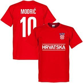 Croatia Modric 10 Team Tee - Red