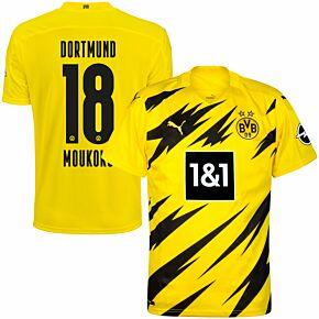 20-21 Borussia Dortmund Home Shirt + Moukoko 18