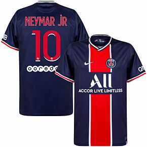 20-21 PSG Home Shirt + Neymar Jr 10