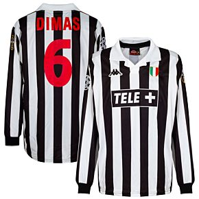 Kappa Juventus 1998-1999 Home L/S Jersey - NEW Condition - Dimas 6 Match Issue - Size XL
