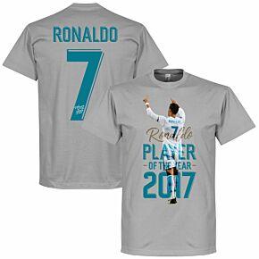 Ronaldo 2017 Player of the Year Kids Tee - Grey