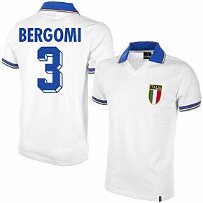 1982 Italy Away Shirt + Bergomi 3 (Retro Flock Printing)