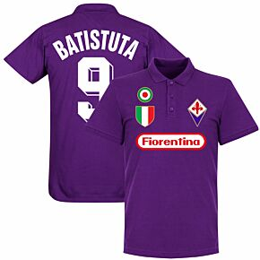 Fiorentina Batistuta 9 Team Polo Shirt - Purple