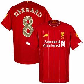 19-20 Liverpool Home Shirt + Gerrard 8 Legend Printing