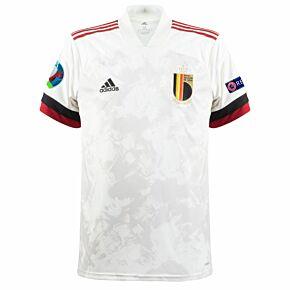 20-21 Belgium Away Shirt + Euro 2020 & Respect Patches