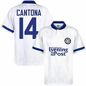 1992 Leeds Utd Home Retro Shirt - Yorks Evening Post Sponsor + Cantona 14 (Retro Flock Printing)