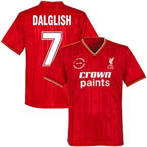 1986 Liverpool Home Double Winners Retro Shirt + Dalglish 7