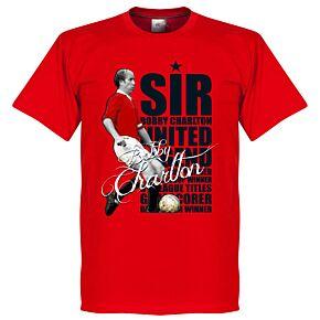 Sir Bobby Charlton Legend Tee - Red