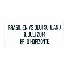 Brasilien vs Deutschland 8. Juli 2014 Belo Horizonte - Germany Away Jersey Semi Final Transfer