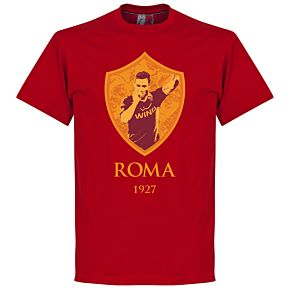 Francesco Totti Roma Gallery Tee - Deep Red