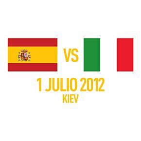 Spain vs Italy Flag 1 Julio 2012 Kiev Euro 2012 Final Match Day Transfer