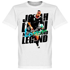 Jonah Lomu Legend Tee - White