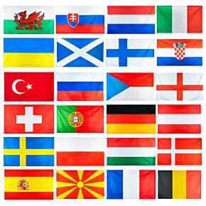 Euro 2020 Full 24 Team National Flag Set (90x150cm approx)