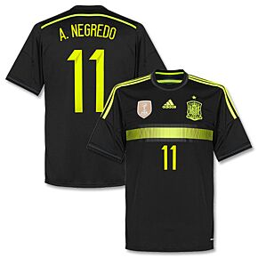 Spain Away A. Negredo Jersey2014 / 2015+ World Cup Champions Patch