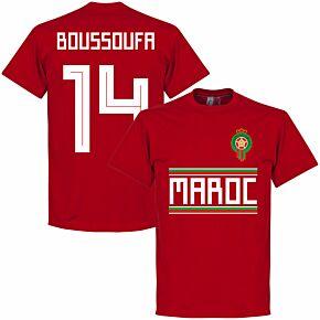 Morocco Boussoufa 14 Team Tee - Red