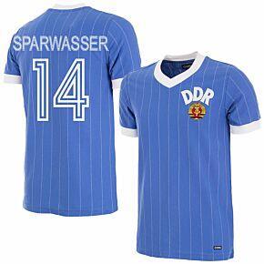 1985 DDR Home Retro Shirt + Sparwasser 14 (Retro Flock Printing)
