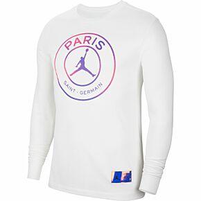 2021 PSG x Jordan L/S T-Shirt - White