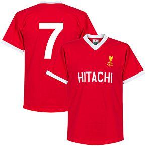 1978 Liverpool Home Retro Shirt + No. 7 (Retro Style Printing)