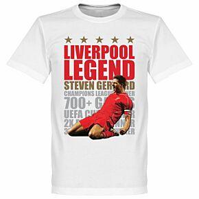 Steven Gerrard Legend Tee - White