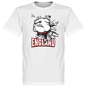 England Bulldog Tee - White