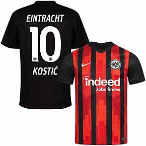 20-21 Eintracht Frankfurt Home Shirt + Kostić 10 (Official Printing)