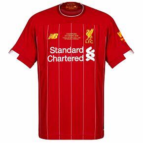 New Balance Liverpool Home Champions League Winners Commemorative Jersey 2019-2020