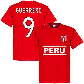 Peru Guerrero 9 Team Tee - Red