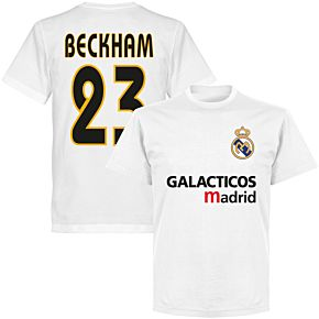 Galácticos Madrid Beckham 23 Team T-shirt - White