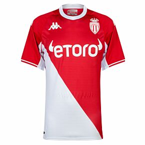 21-22 AS Monaco Home Authentic Shirt - (Skin Fit)