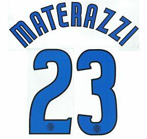 Materazzi 23 - 02-03 Inter Milan Away Official Name & Number