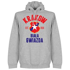 Wisla Krakow Established Hoodie - Grey
