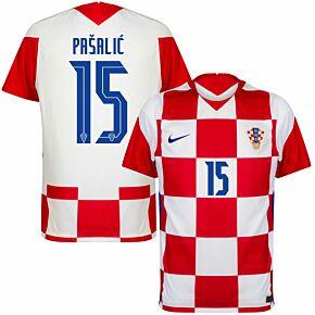 20-21 Croatia Home Shirt + Pašalić 15 (Official Printing)