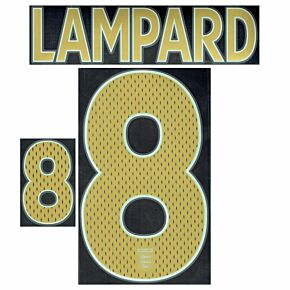Lampard 8 - 06-08 England Away Name and Number Transfer