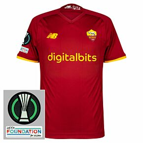 21-22 AS Roma Home Elite Shirt + Europa Conference League Patches