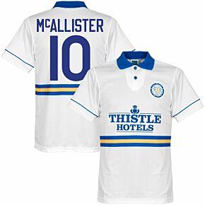 1994 Leeds United Home Retro Shirt + McAllister 10