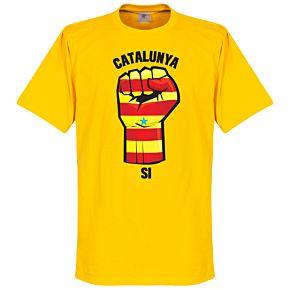 Catalunya Fist Tee - Yellow
