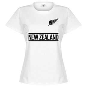 New Zealand Team Womens Tee - White