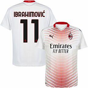 20-21 AC Milan Away Shirt + Ibrahimović 11 (Official Printing)