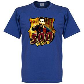 Messi 500 Club Goals Tee - Blue