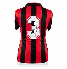 Paolo Maldini Back Signed ACMilan 90-92 Shirt - Euro ChampEdition