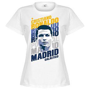 Ronaldo Madrid Portrait Tee - White