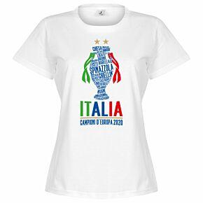 Italia Champions of Europe 2020 Women's T-shirt - White