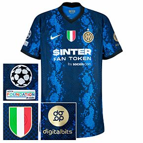 21-22 Inter Milan Dri-Fit ADV Match Home Shirt + UCL/Foundation + Scudetto + Digitalbits