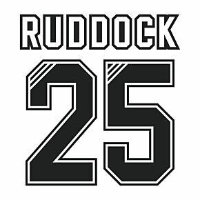 Ruddock 25 (Retro Flock Printing) 95-96 Liverpool Away